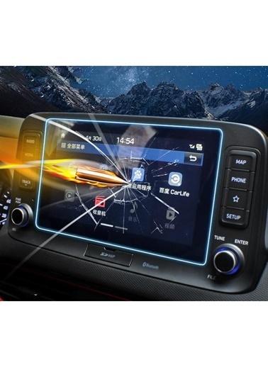 Techmaster Hyundai Kona 2015-2020 Navigasyon Temperli Ekran Koruyucu Renkli